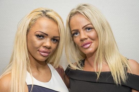 Kayla (vlevo) a Georgina (vpravo) chtěly vypadat jako Katie Price.