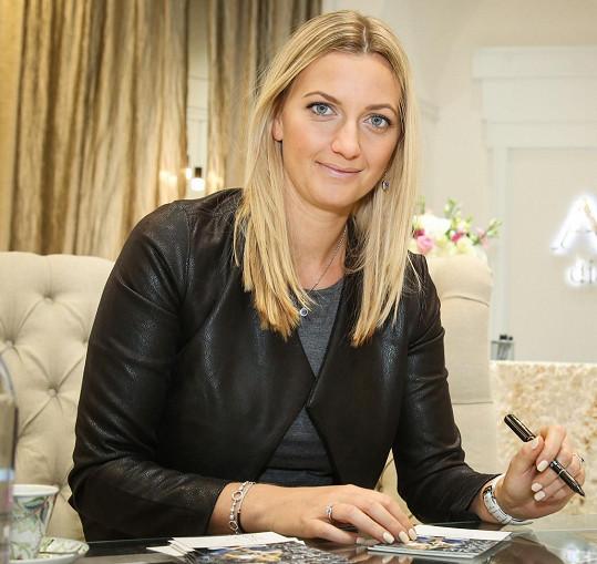Petra Kvitová je ambasadorkou české značky diamantových šperků.