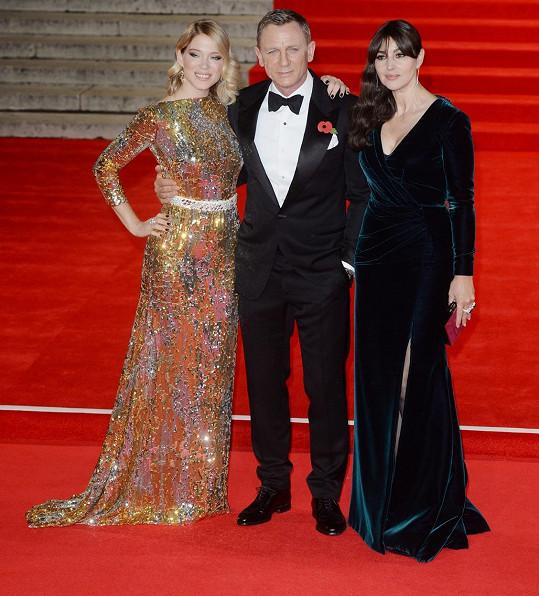 Daniel Craig a jeho nové Bond girls Léa Seydoux a Monica Bellucci
