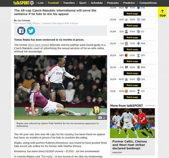 A na dalších sportovních webech.