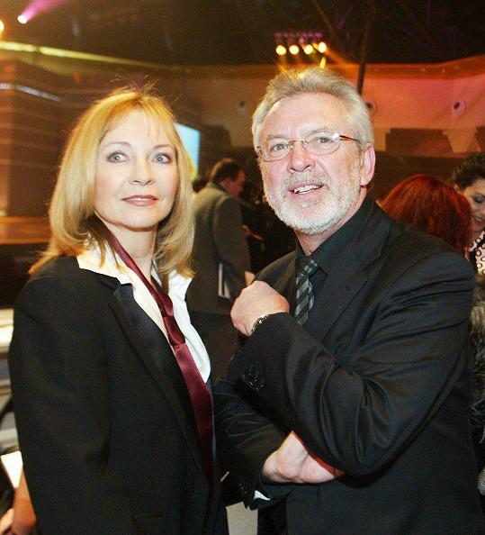 Jaromír Hanzlík s bývalou přítelkyní Danou Mauerhoferovou v roce 2005.