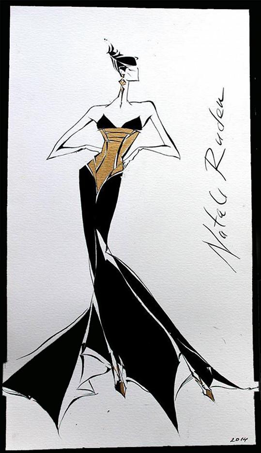 Podařilo se nám získat návrh šatů od Natali Ruden.