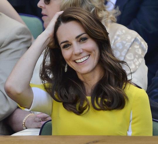Kate rozzářila tribunu na Wimbledonu.