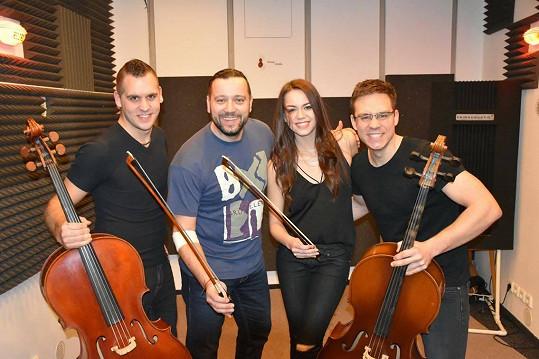 S muzikanty a kolegou Michalem Kavalčíkem