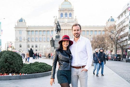 Herec se svou taneční partnerkou Zuzanou Šťastnou