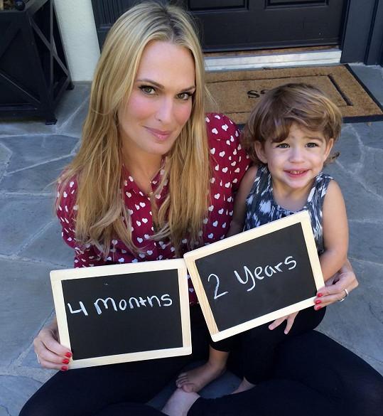Molly se synem Brooksem