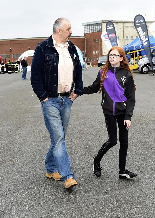 Na akci dorazil třeba i Pavel Vohnout alias Kyklop s dcerou.