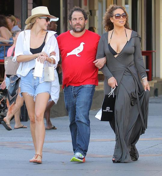 Mariah s Brettem Ratnerem a společnou kamarádkou
