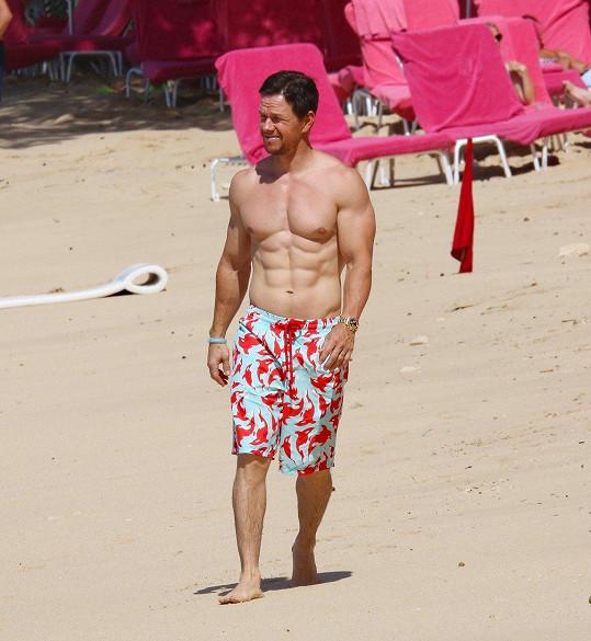 Mark s rodinou relaxoval na plážích Barbadosu.