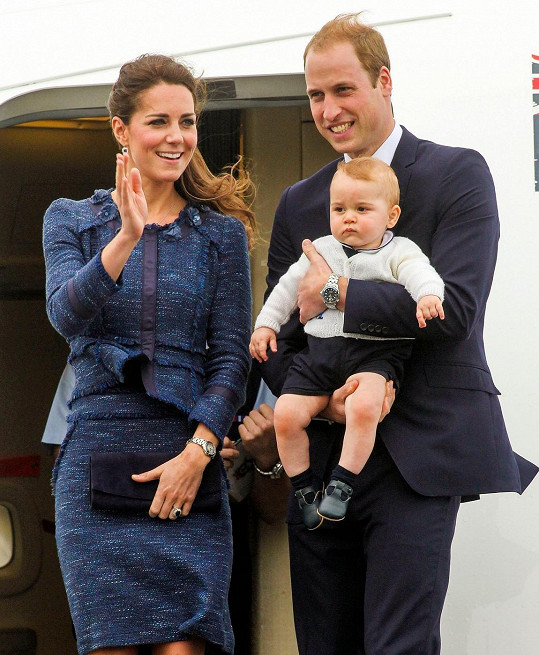 Kate a William se synem Georgem