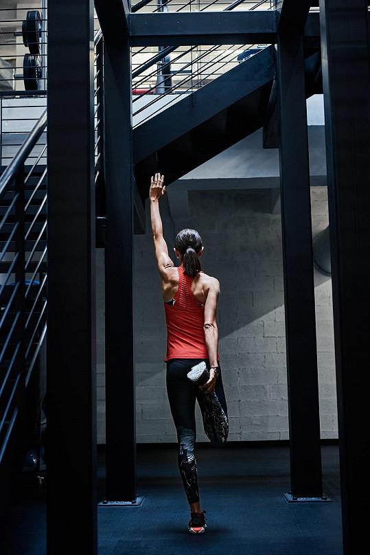 Fotilo se v prostorách fitness centra v Praze Na Příkopě.