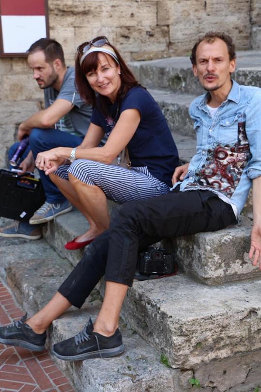 Návrhářka Beata Rajská s fotografem Standou Merhoutem.