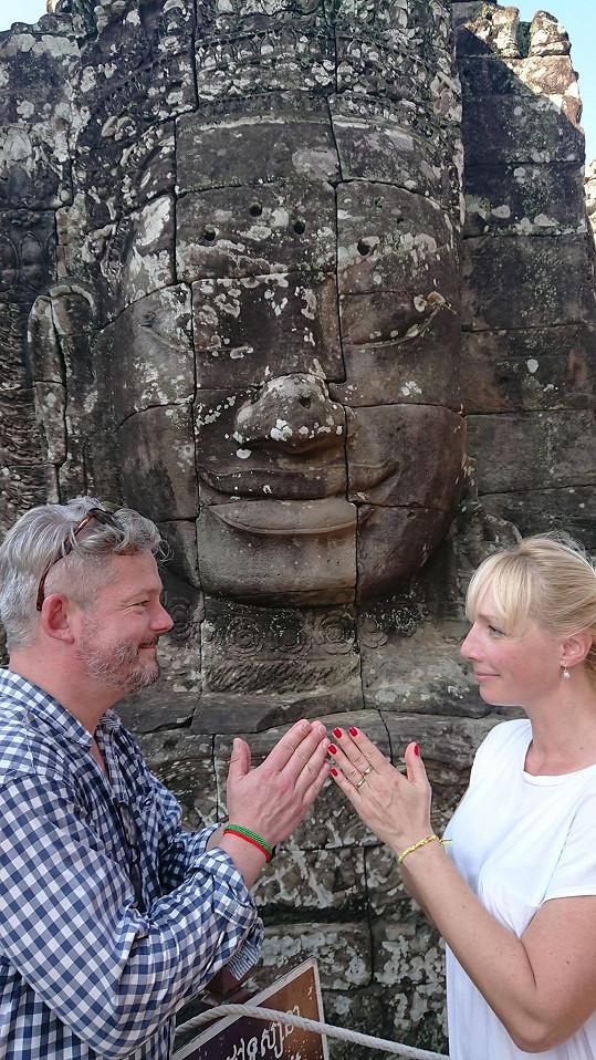 Se ženou Gábinou vyrazil tentokrát do Kambodže.