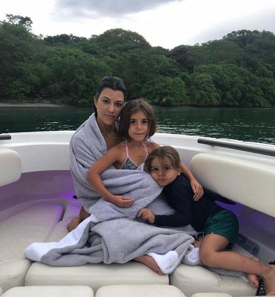 S dcerou Penelope a nejmladším synem Reignem