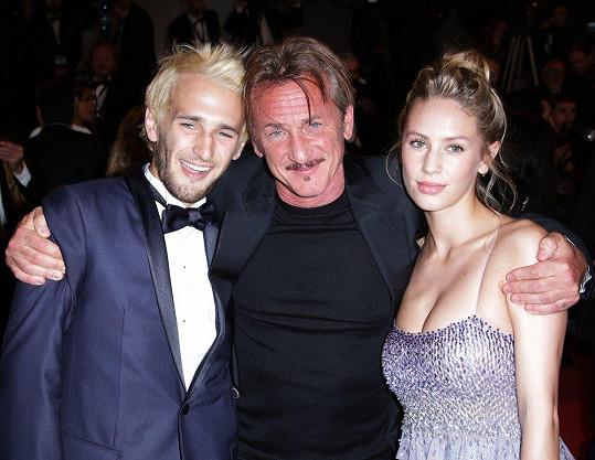 Sean Penn se svými potomky Hopperem a Dylan