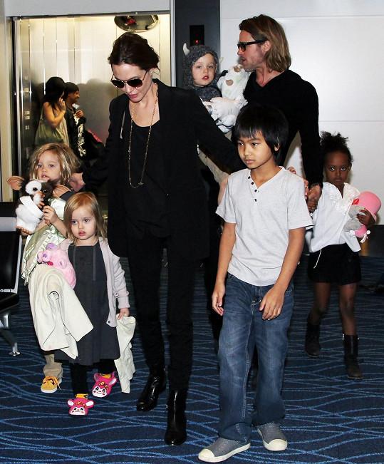 Brangelina s dětmi