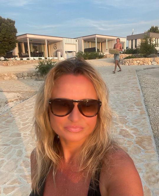 Jana Adamcová tráví dovolenou v Chorvatsku.