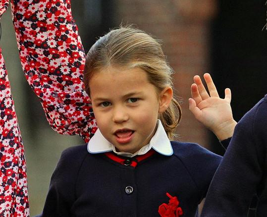 Princezna Charlotte je zřejmě pěkná rošťanda.