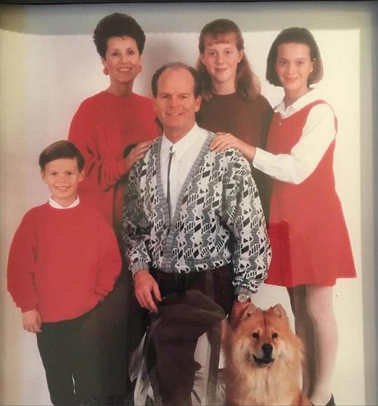 Katy Perry (úplně vpravo) se podělila o svůj děsivý vánoční snímek.