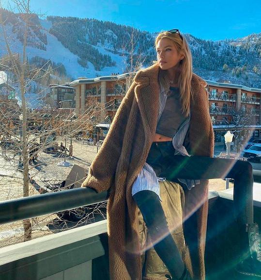 Zimu tráví v oblíbené destinaci celebrit.