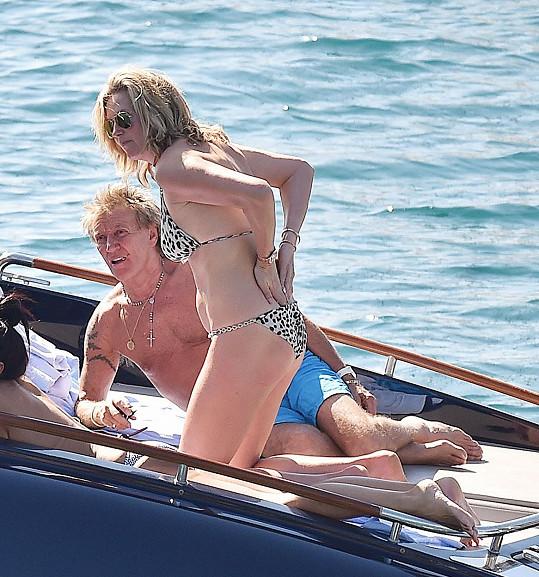 Rod Stewart a Penny Lancaster na Portofinu