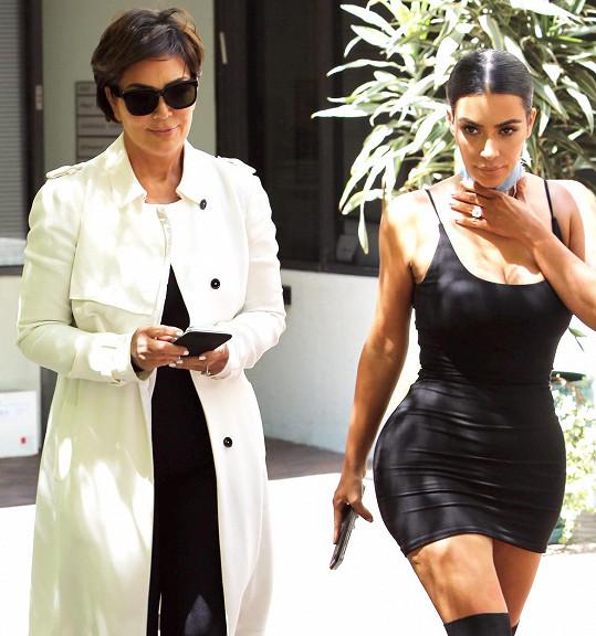 Kim s maminkou Kris Jenner