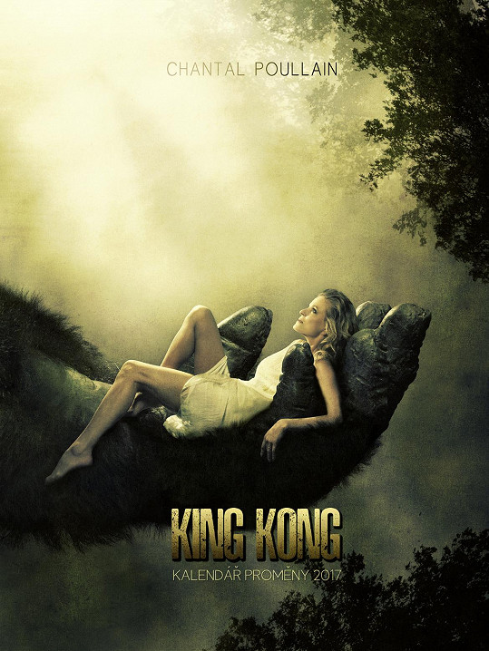 Chantal Poullain na plakátu k filmu King Kong