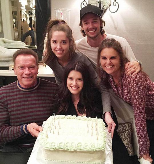 V rodinném kruhu o pár dní dřív slavili i s Arnoldem narozeniny Katherine Schwarzenegger.
