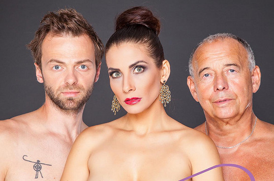 Eva Decastelo s Ivanem Vyskočilem a Lukášem Langmajerem jsou hvězdami hry Děláme to ve třech.