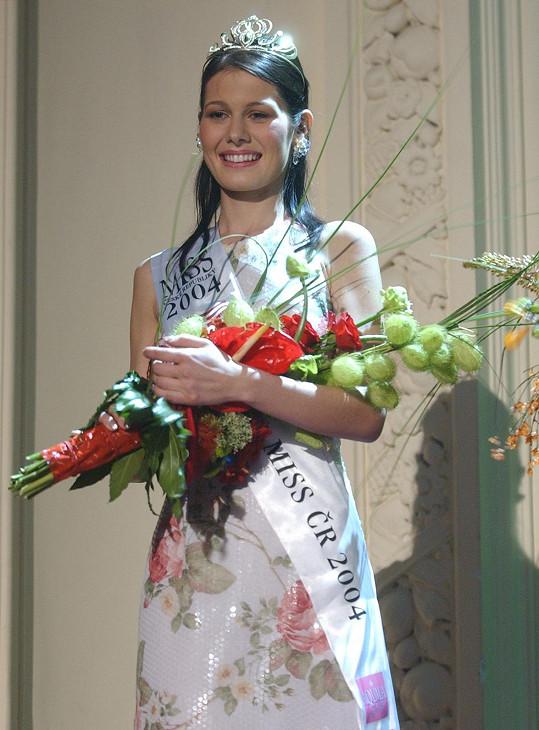 Jana Doleželová vyhrála roku 2004 Miss ČR.