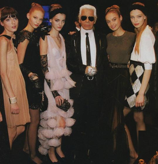 Spolupracovala například úzce s Karlem Lagerfeldem.