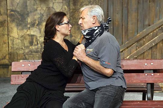 S Karlem Heřmánkem jako manželé Ellen a Milt