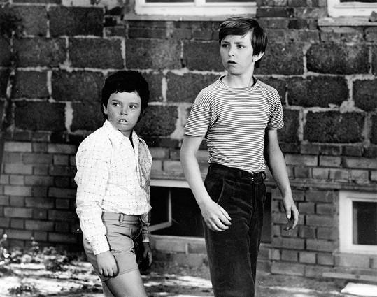 Michal Kocourek (vlevo) jako dětský herec v komedii Což takhle dát si špenát