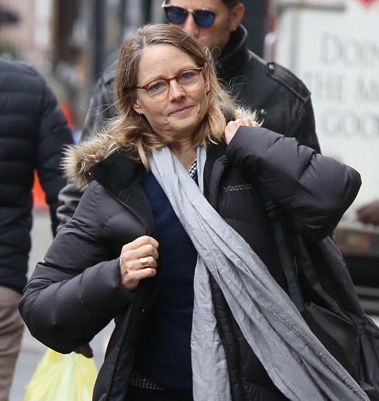 Jodie Foster je v civilu velmi nenápadná.