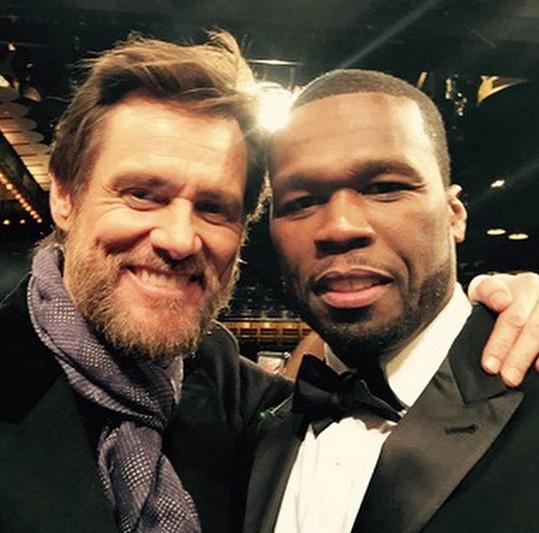 Carrey na snímku s 50 Centem z tohoto týdne.