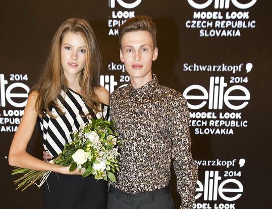 Po vyhlášení vítězů soutěže Schwarzkopf Elite Model Look v roce 2014 (na snímku s Barborou Podzimkovou, která vyhrála dívčí finále).