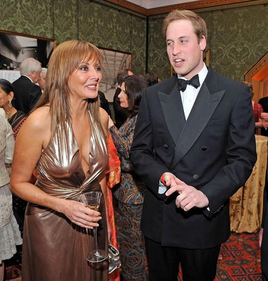 Carol na snímku s princem Williamem z roku 2008
