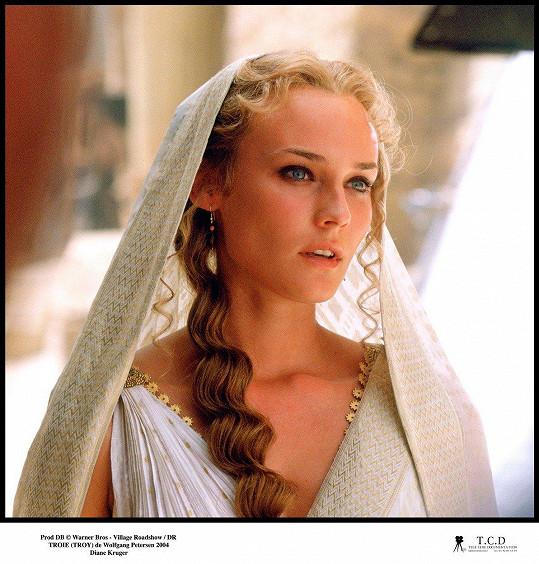 Diane Kruger jako krásná Helena ve slavném filmu Troja.