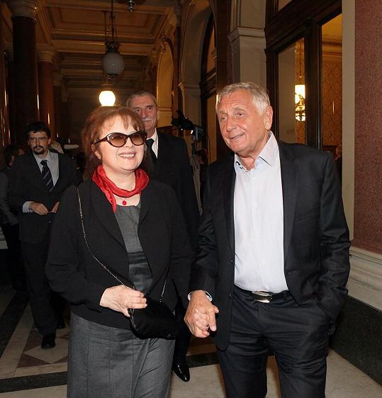Libuška Šafránková a Jiří Menzel (2013)