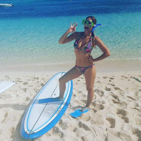 Barbora Mottlová si užívala dovolenou na Mauriciu.