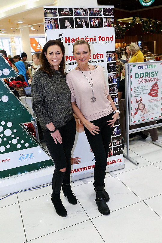 Akci pořádanou pod záštitou Nadace Hanky Kynychové podpořila i cvičitelčina kamarádka Jana Adamcová.