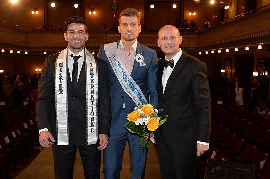 S loňským Mr. Universe a prezidentem Muže roku Davidem Novotným po vítězství.