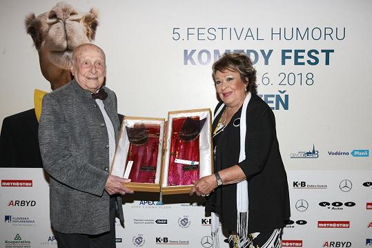Stanislav Zindulka a Jiřina Bohdalová