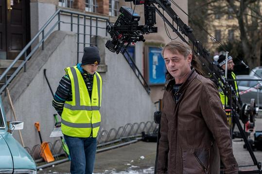Herec při natáčení