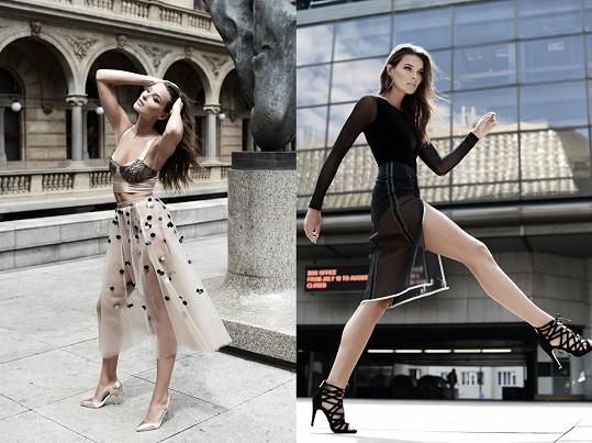 Focení v odvážných modelech probíhalo mezi kolemjdoucími. Na ulici se modelka musela i převlékat.