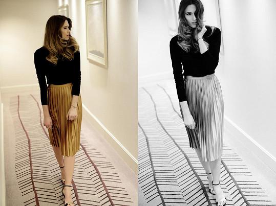 Štoudková fotila pro svůj nový blog.
