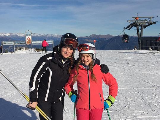 Markéta Hrubešová vyrazila na hory s dcerou Lilly.