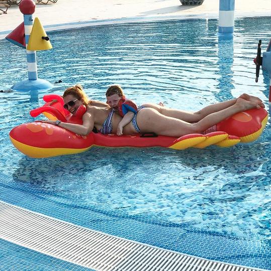 S Maxíkem si užila v létě dovolenou v Chorvatsku.