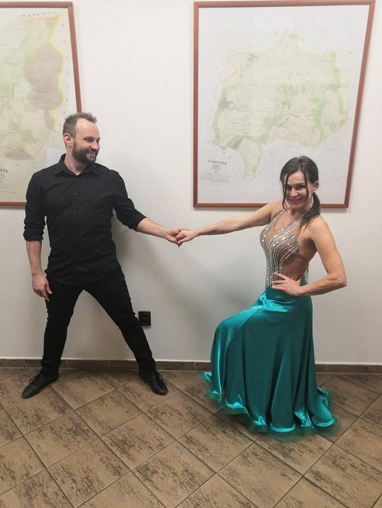 Marek Dědík a Olga Šípková se znovu potkali na tanečním parketu.