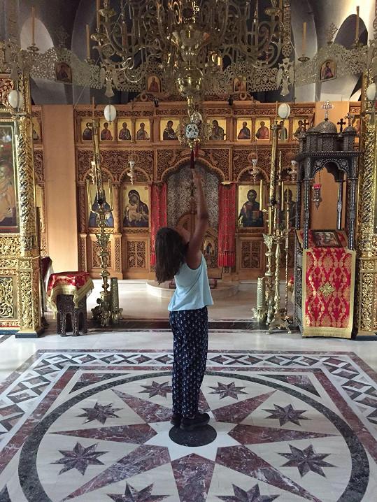 Iva ráda navštěvuje místní kláštery.